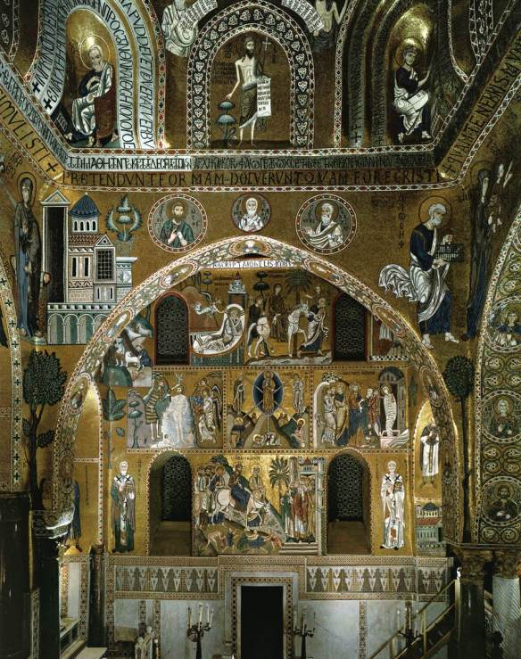 Sanctuary, south wall 1140-70 Mosaic Cappella Palatina, Palermo