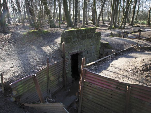 World War I British trenches are preserved at Hill 62, Sanctuary Wood, in Ypres, Belgium. The farmer who owned the site was required to leave his land in 1914 when the war began. After returning to reclaim the land much was cleared away, but he maintained a large section of British trench.