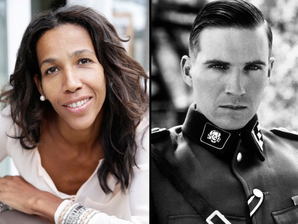 Jennifer Teege and Ralph Fiennes as Amon Goeth in Schindler's List. Photo courtesy of Jennifer Teege and Universal Pictures