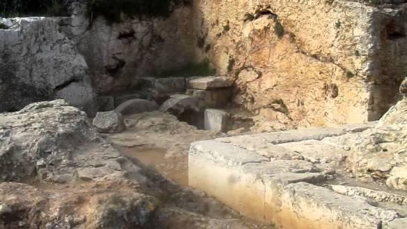 A burial cave in Jerusalem.