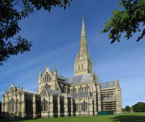 Exterior view begun 1220 Photo Cathedral, Salisbury