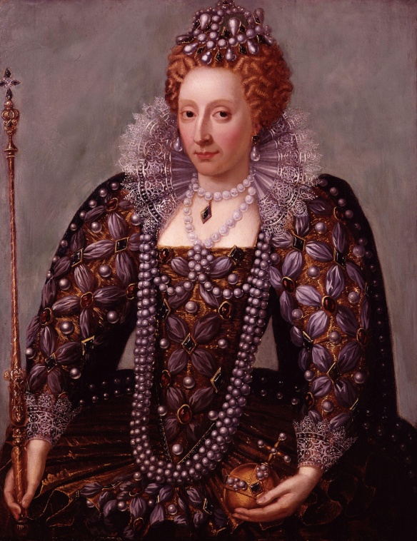 Virgin English Queen and fashion icon, Elizabeth I. Coronation by unknown artist.