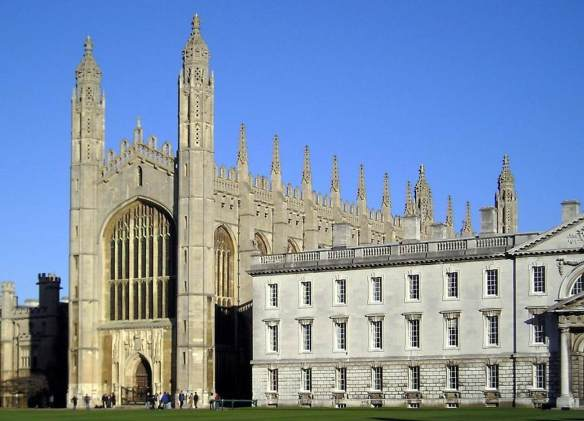 Exterior view 1446-1515 Photo King's College Chapel, Cambridge, England