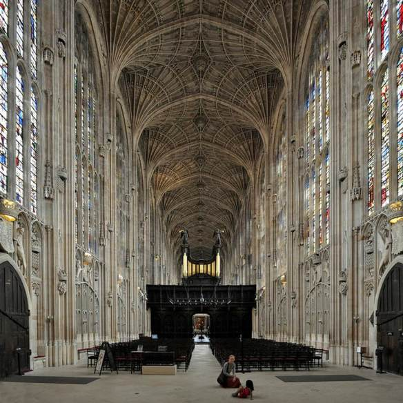 Interior view 1466-1515 Photo King's College Chapel, Cambridge, England