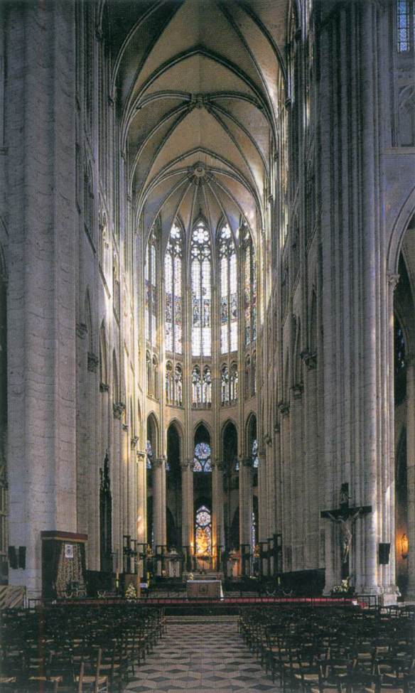 Interior view begun 1225 Photo Cathédrale Saint-Pierre, Beauvais