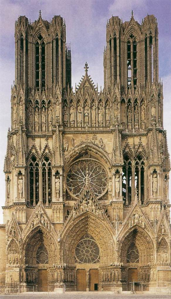 Exterior view after 1254 Photo Cathedral, Reims
