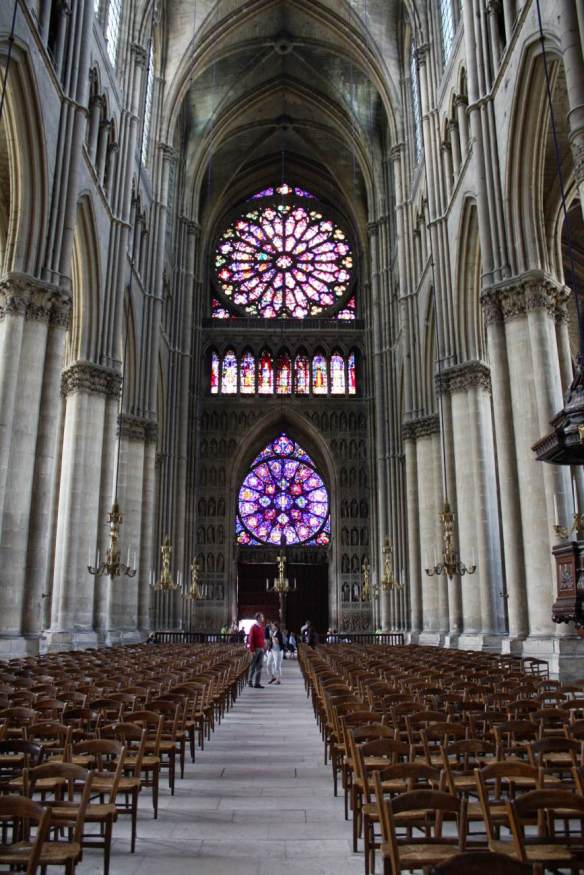 Interior view after 1254 Photo Cathedral, Reims