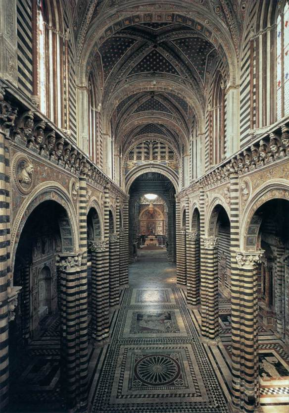 Interior view of the Cathedral 1270s (completed) Photo Duomo, Siena