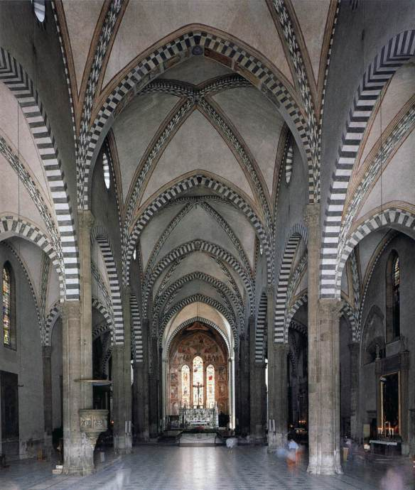 View of the nave and choir began c. 1246 Photo Santa Maria Novella, Florence