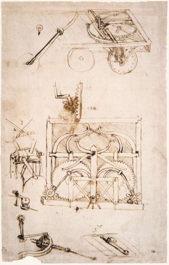 Automobile 1478-80 Metalpoint, pen and brush on paper, 27 x 20 cm Biblioteca Ambrosiana, Milan