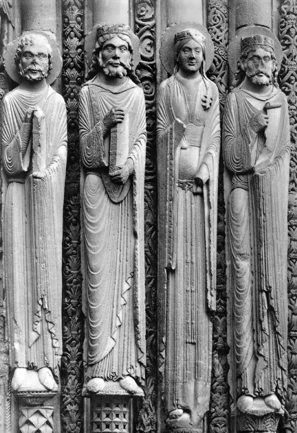 Jamb Figures 1150-70 Stone Cathedral, Chartres
