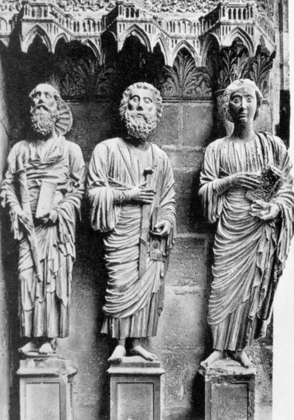 Apostles c. 1230 Stone Cathedral, Reims